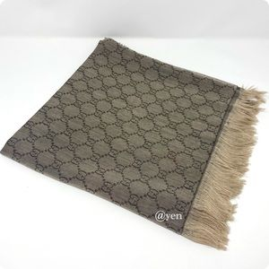 Gucci brown scialle servee scarf